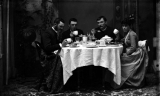 Dinner in the Photo Studio, ca. 1900