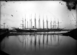 Schooners at Dock, ca. 1900