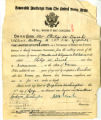 Philip William Dasch Army Discharge Papers 1919 August 15