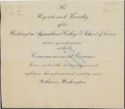 1899 Commencement Week Invitation...