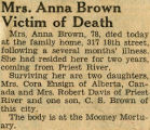 Northwest History. Obituaries. A to C. B. United States.