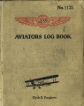 1933 Aviator Log Book Cover