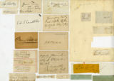 Groups of miscellaneous autographs, undated