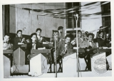 Tet Bessho and his band performing at Heart Mountain, ca. 1945