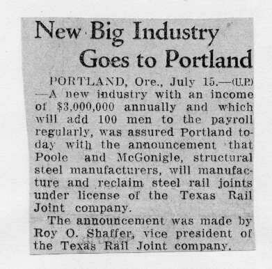 Northwest history  Industry & manufacturing  General  1932-07-15