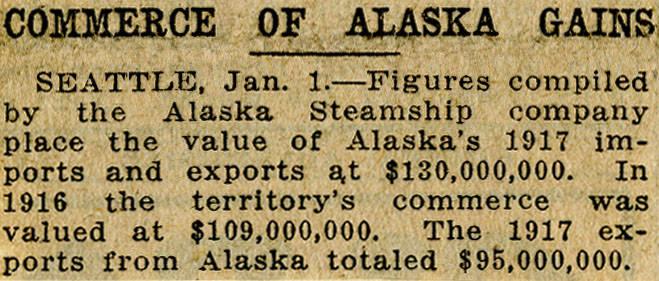 Northwest History  Alaska  Exports & Imports  - Kimble Northwest