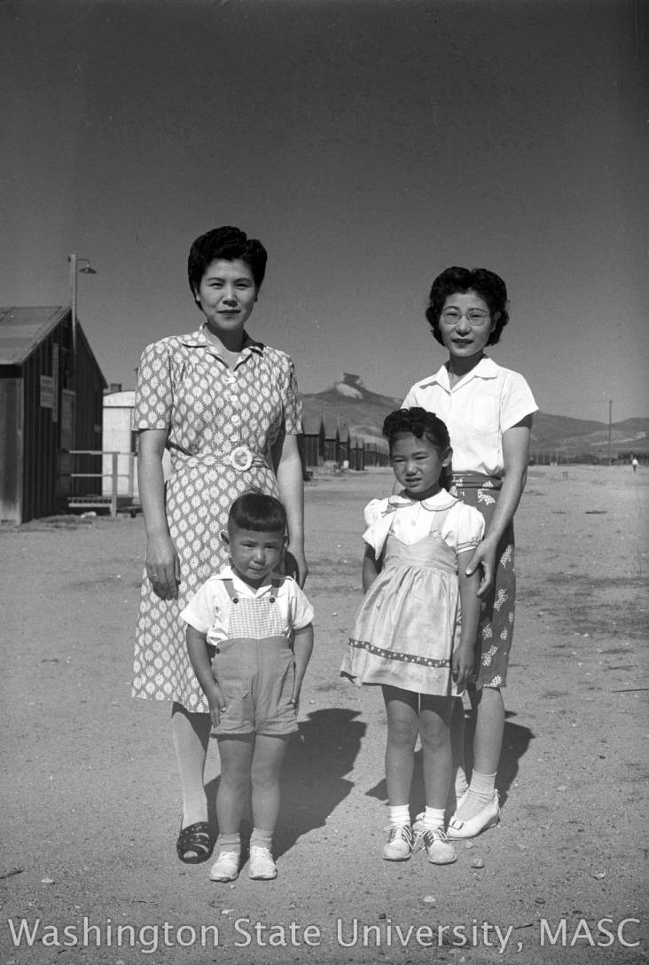40a3b500 Omoto family standing outside together, July 2, 1945. - George and ...