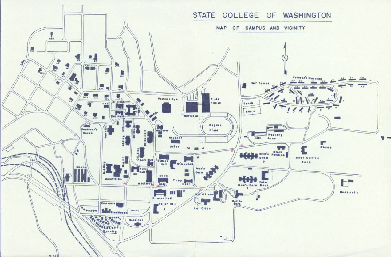 State College Of Washington Map Of Campus And Vicinity September