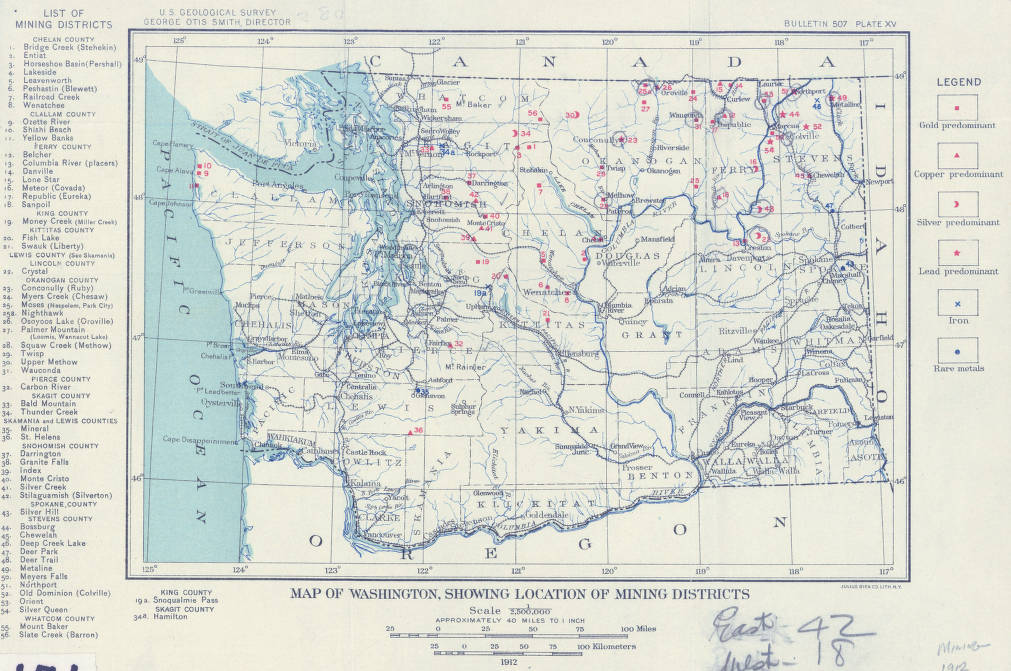 Map of Washington showing location of mining districts U.S. ... Geological Survey Maps on census bureau maps, geological map for flint, topographic survey maps,