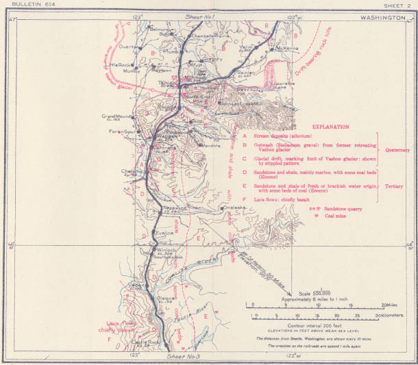 Geologic And Topographic Map Of The Coast Route From Seattle Washington To San Francisco California 1916 Bulletin 614 Sheet No 2 Centralia Early Washington Maps Wsu Libraries Digital Collections