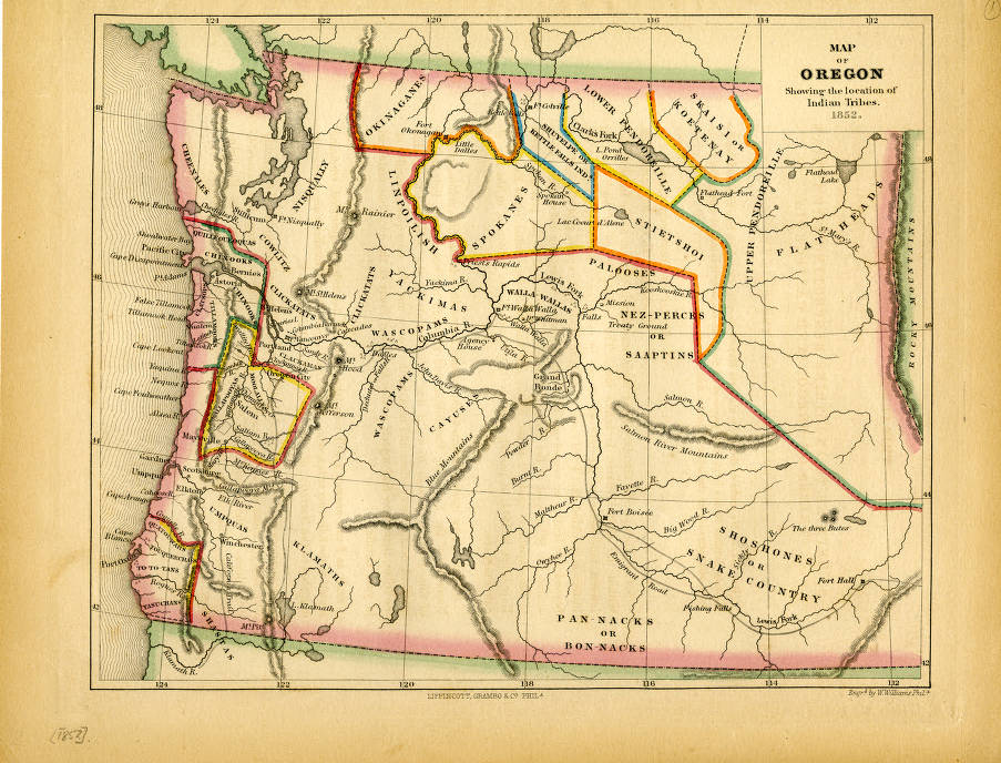 Map of Oregon Showing the location of Indian Tribes. (1852 ... Indian Tribes Map on indian region map, indian cheyenne map, indian tribes of mexico, indian tribes of the great plains, indian travel map, indian tribes along the oregon trail, indian area map, us tribes map, first nations map, indian tribes in colorado, american indian map, indian tribes of michigan, indian map of the united states, indian tribes in the united states, indian reservation map, indian tribes list all, indian trust land of sale, indian tribes by state, plains indians map, indian powhatan map,