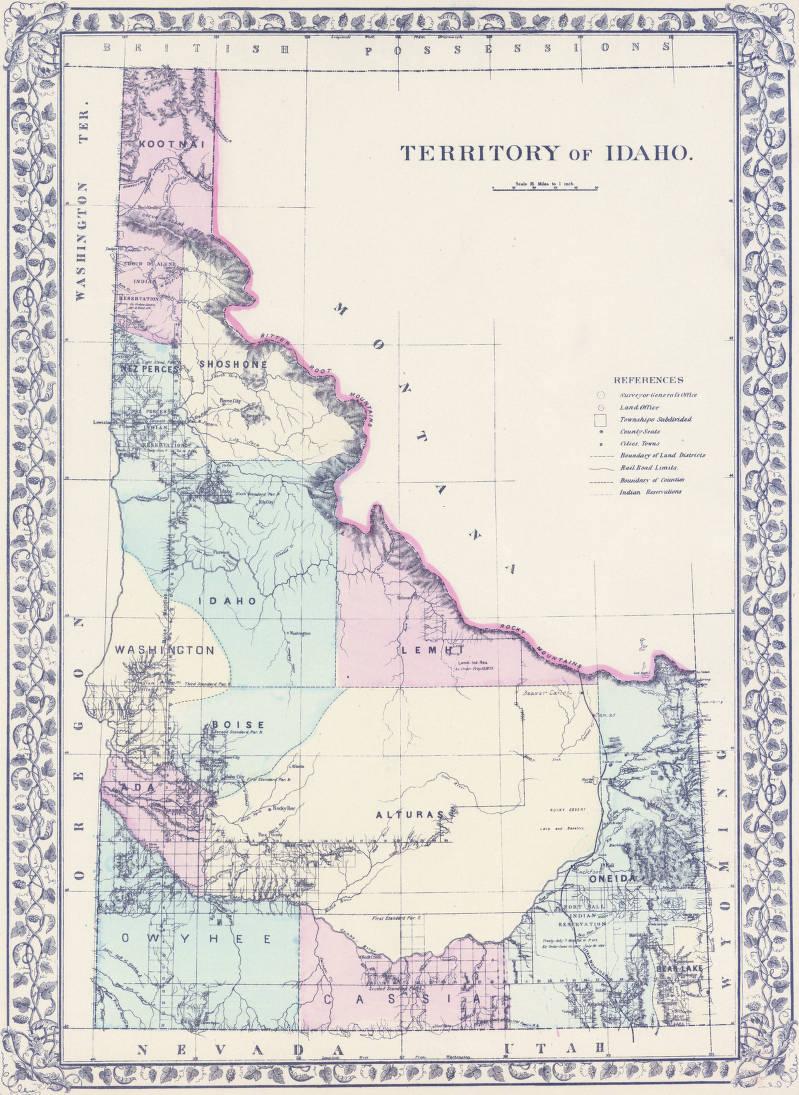 Territory Of Idaho 1879 Early Washington Maps Wsu Libraries