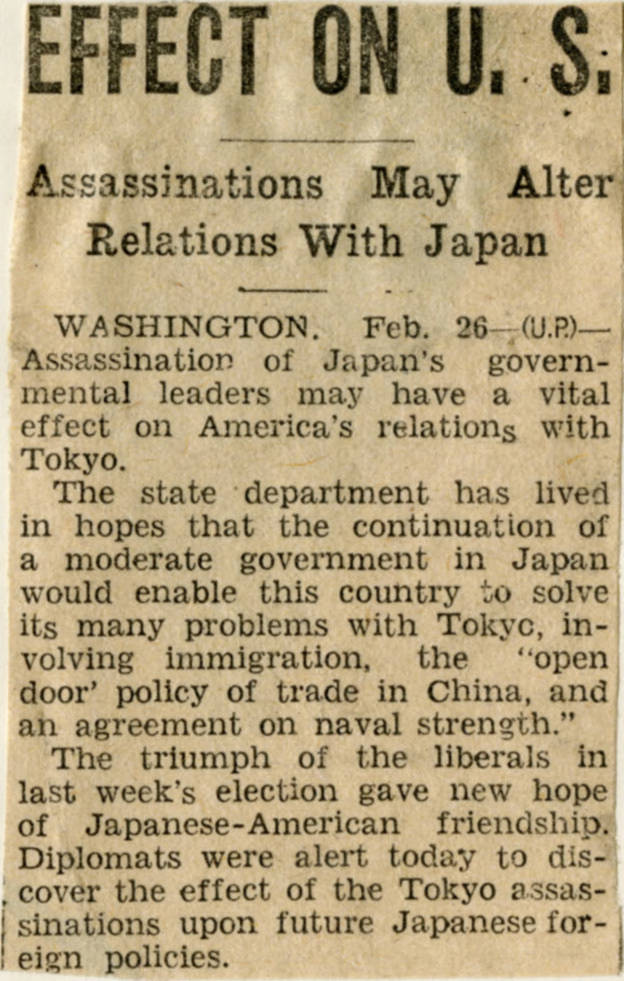 Northwest History  International Diplomacy & Politics  Japan